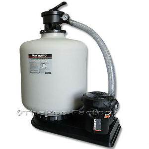 Hayward S230t Above Ground Swimming Pool Sand Filter System W 1 5 Hp Matrix Pump