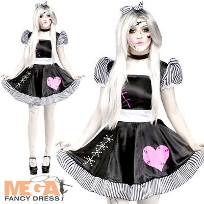 Broken Rag Doll Ladies Fancy Dress Halloween Dolly Adults Womens Horror Costume - Broken Doll Dress