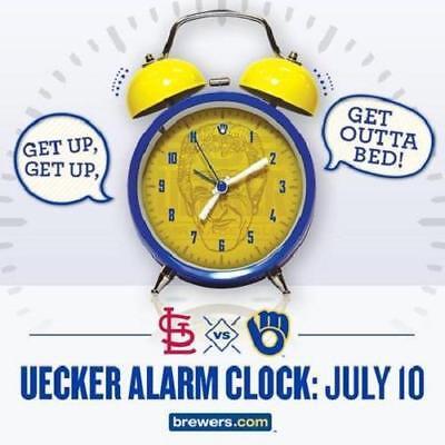 Bob Uecker Milwaukee Brewers 2016 Alarm Clock MLB