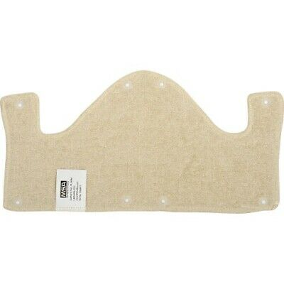 1 Msa 10068911 Snap-on Tan Cotton Sweatband For Hard Hats Helmet Washable