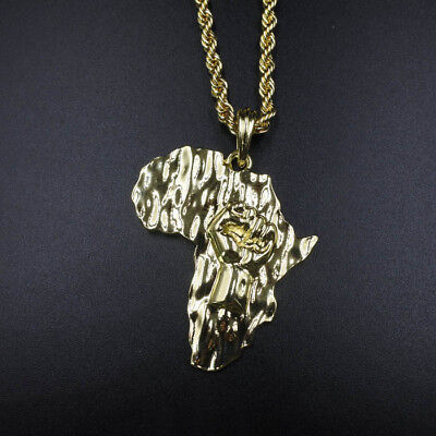 Necklace pride powerebay 14k gold africa fist black power pendant 24 rope chain necklace african pride mozeypictures Image collections