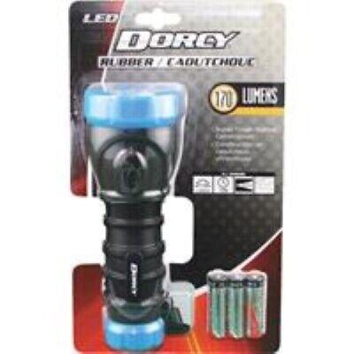 Dorcy 170-Lumen Weatherproof Rubber LED Flashlight with Non-Slip Grip