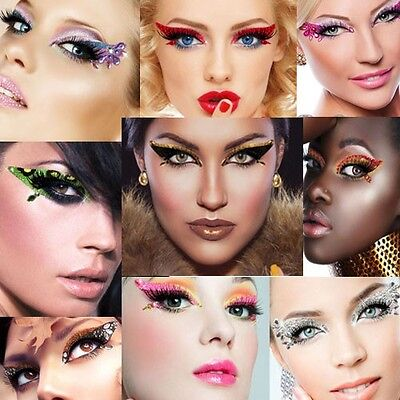 Exotic Eye Makeup Adhesive Halloween Crystal Sequin Dancer Glitter Costume Kit - Halloween Glitter Eye Makeup