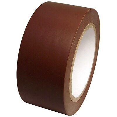 Dark Brown Vinyl Tape 2 Inch X 36 Yd. 1 Roll. Spvc