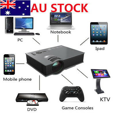 UNIC UC46 Full HD 1080P Home theater AV IN/SD/USB/VGA/HDM WIFI LCD LED Projector