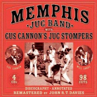 MEMPHIS JUG BAND - WITH GUS CANNON'S JUG STOMPERS 4 CD BOX-SET NEU  Jug Band