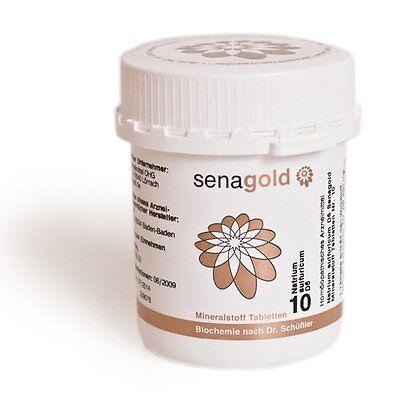 Schüßler Salz Nr.10 - Natrium sulfuricum D6 - 400 Tabletten, glutenfrei
