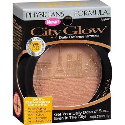 Physicians Formula City Glow Daily Defense Bronzer Spf 30 Paris 6446  0 38 Ounce