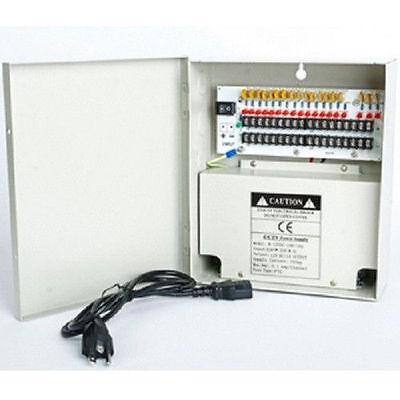 Power-box 18-port (18 Port CH DVR Power Supply Box DC 12V 20A For Security CCTV Camera LED Strip)