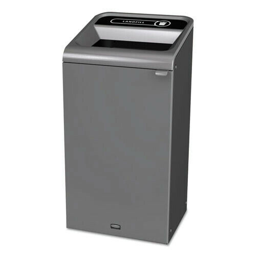 Rubbermaid Commercial RCP1961621 23 gal Recycling Waste Receptacle - Gray New