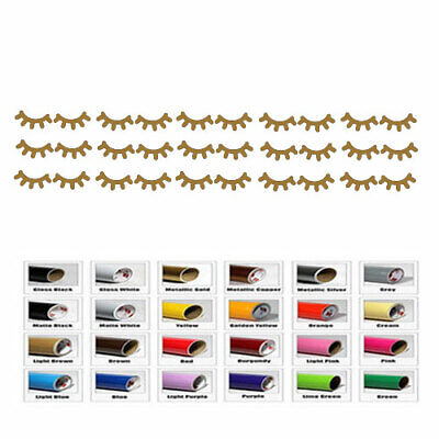 15 Eyelashes Pairs Decal Stick for Envelope Seal Cup Party Baby Showers - Mustache Decorations For Baby Shower