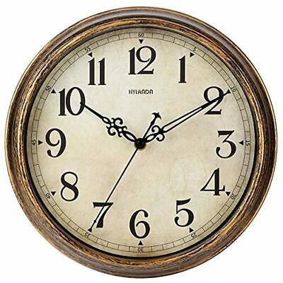 Wall Clock - 12 Inch Vintage Wall Clocks Battery Operated - Retro Silent Non