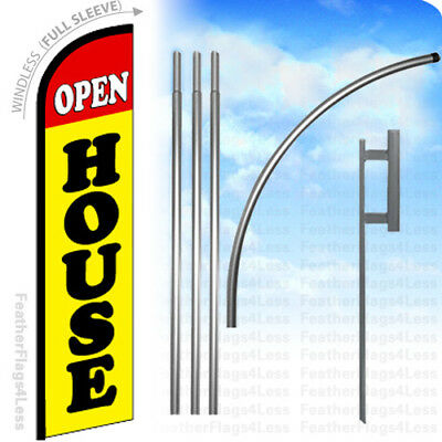 Open House - Windless Swooper Flag 15 Kit Feather Banner Sign - Yf