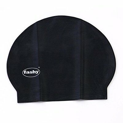 Fashy Unisex Badekappe Badehaube Latex schwarz 3030 20