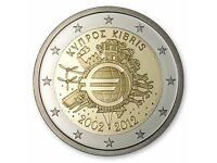 """2012 Estonia 2 Euro UNC Coin /""""10 Years of the Euro as a Currency/"""""""