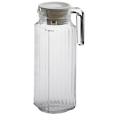 Luminarc Saftkrug Quadro 1,1L Glaskaraffe Milchkrug Kanne Wasser Saft Krug 1l Krug