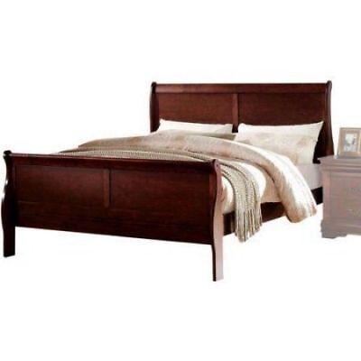Bedroom Furniture Sleigh Wood Platform Bed Frame Full Size Footboard Headboard