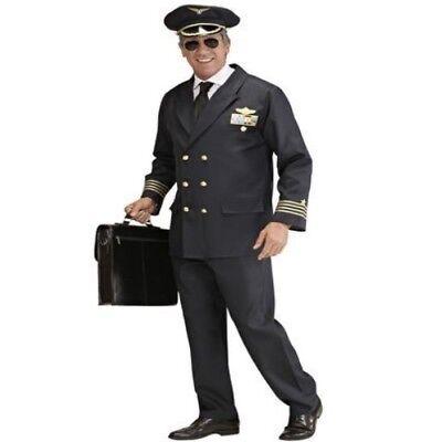 PILOT Herren Kostüm Anzug Flugbegleiter Party Fasching 46 48 50 52 54 56 58 (Pilot Anzug Kostüme)