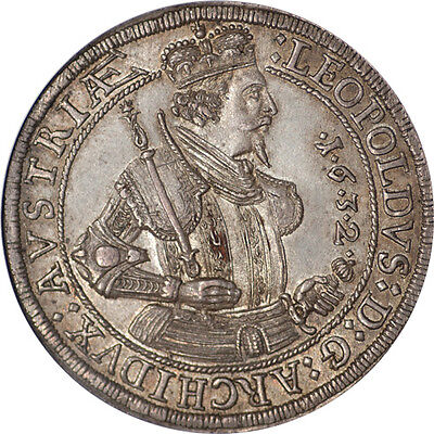 Click now to see the BUY IT NOW Price! AUSTRIA 1632 HALL ARCHDUKE LEOPOLD TALER NGC MS-62