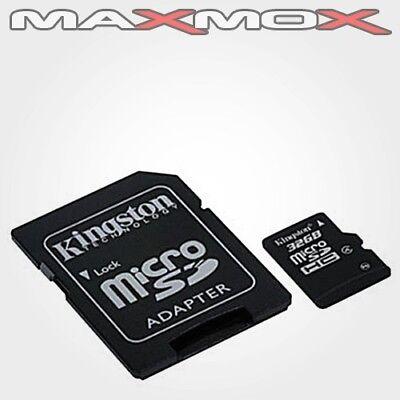 32GB MicroSD Class 10 Kingston Speicher Karte +Adapter max 80MB Handy Foto Video
