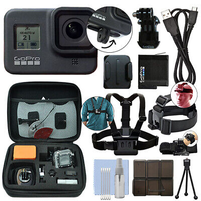 GoPro HERO8 Black 12 MP Waterproof 4K Camera Camcorder + Ult