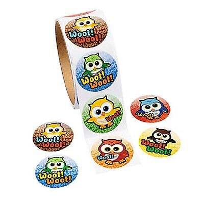 Assorted Cartoon Owl Stickers Roll of 100 Birthday Party Favors - Owl Birthday Party