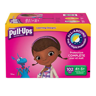 Huggies Pull Ups Training Pants For Girls Size 4T - 5T  102 Total