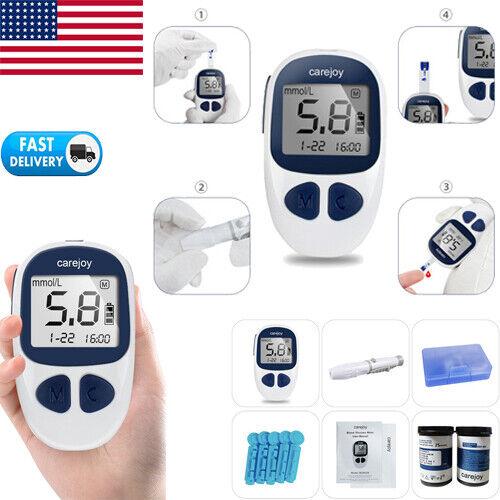Blood Glucose Starter Kit Glucometer Sugar Meter Monitor Dia
