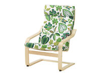 Used Ikea Poang Armchair Simmarp Green