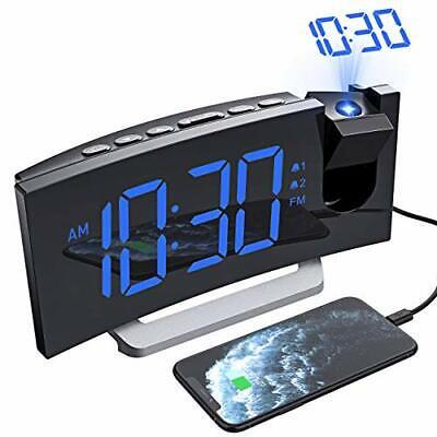 Mpow Projection Alarm Clock, Radio Digital Clock with USB Charger, Full Range...