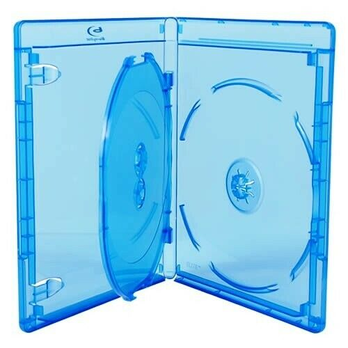 New Blu-ray Replacement 12mm 3-Disc Blu-Ray With Logo Premium Movie Case