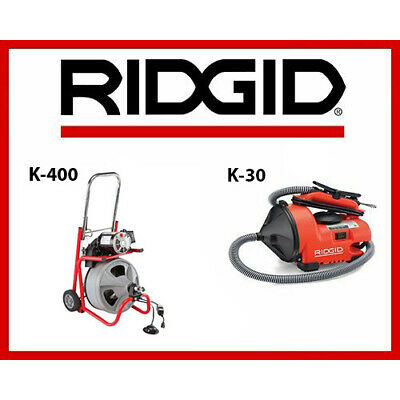 Ridgid Auto-clean K-30 Sink Machine 55808 Ridgid K-400 Drum Machine 52363
