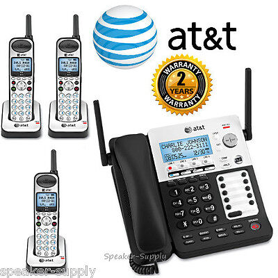 AT&T SYNJ Corded SB67138 w/ 3 Cordless SB67108 Handsets DECT Phone System 4 Line
