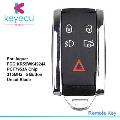 For Jaguar XF XFR XK XKR 2007-2013 Keyless Entry Remote Key Fob FCC KR55WK49244