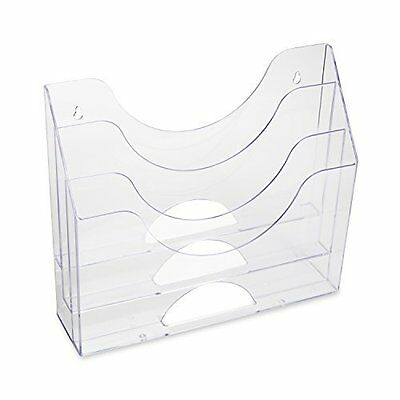 Wall 3 Pocket File Plastic Sorting Folder Organizer Home Office Storage Clear