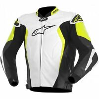 ALPINESTARS GP TECH LEATHER JACKET YELLOW/JAQUETTE DE MOTO JAUNE