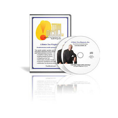 The Tom Nicoli Weight Loss Set on 2 CDs Hypnosis For Weight Loss Customer Return
