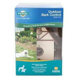 NEW PetSafe Outdoor Ultrasonic Bark Deterrent, Up to 50 ft. Range, Outdoor Use Only,