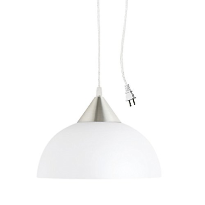 Hanging Light Pendant Lighting w/ Plug in Cord Ceiling Fixtu