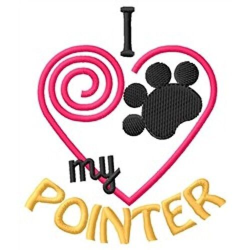 "I ""Heart"" My Pointer Ladies Fleece Jacket 1369-2 Size S - XXL"