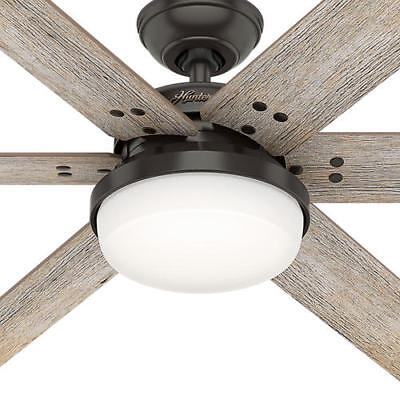 """Extra Large 64"""" Bronze 6 Blade Ceiling Fan Remote Transitional LED Light Lamp"""