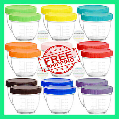 Youngever 18 Pack Baby Food Storage, 2 Ounce Containers with Lids and and Labels