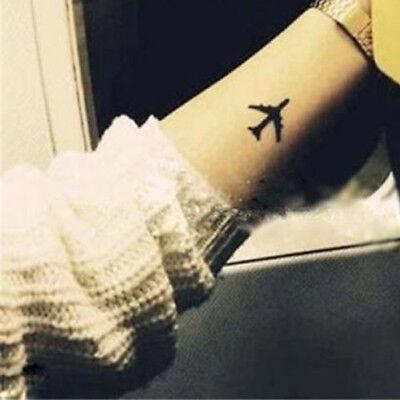 Aeroplane Elephants Crown Jet Plane Temporary Fake Temp Tattoo Transfer Sticker - Fake Crown