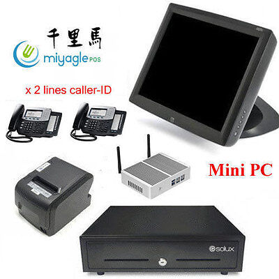 15 All In One Pos System Restaurant Point Of Sale Mini Pc Elo Touchscreen