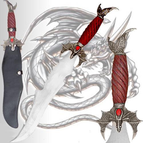 Flying dragon dagger 22 stainless steel blade sword w/ black handle pakistan