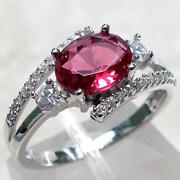 Sterling Silver Ruby Ring Size 7