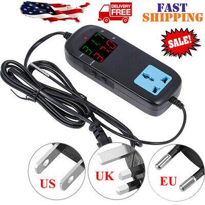 Digital Temperature Controller Temp Control Heater Switch Ac 220v 10a Us Plug