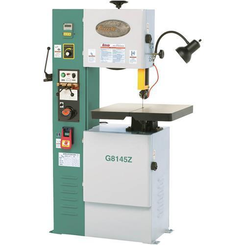 "G8145z Grizzly 14-1/8"" Vs Vertical Metal-cutting Bandsaw With Inverter"