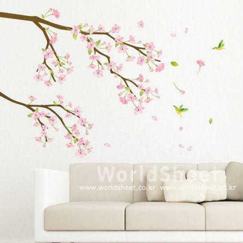 Cherry blossom wall sticker ebay for Decoration adhesif mural