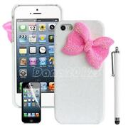 iPhone 4 Case Bow White